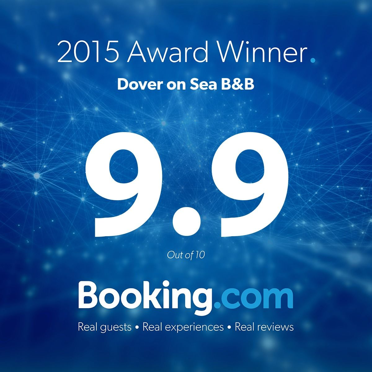9.9 Rating on Booking.com